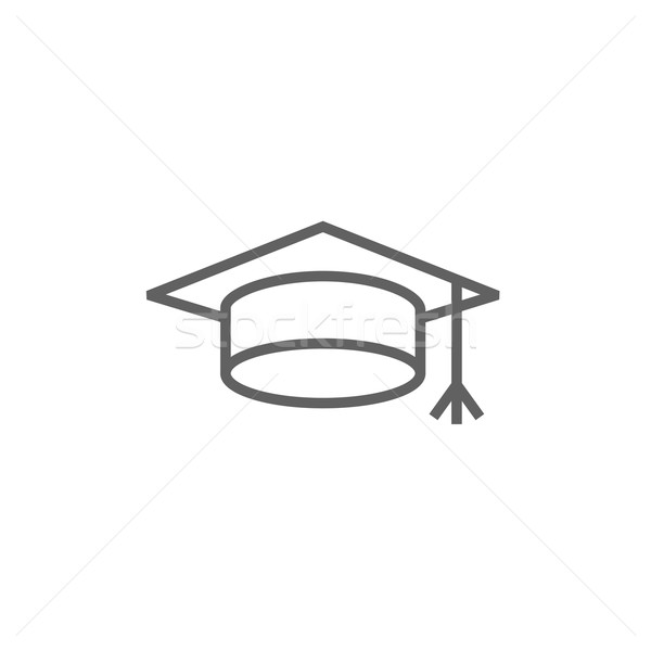 Graduation cap line icon. Stock photo © RAStudio