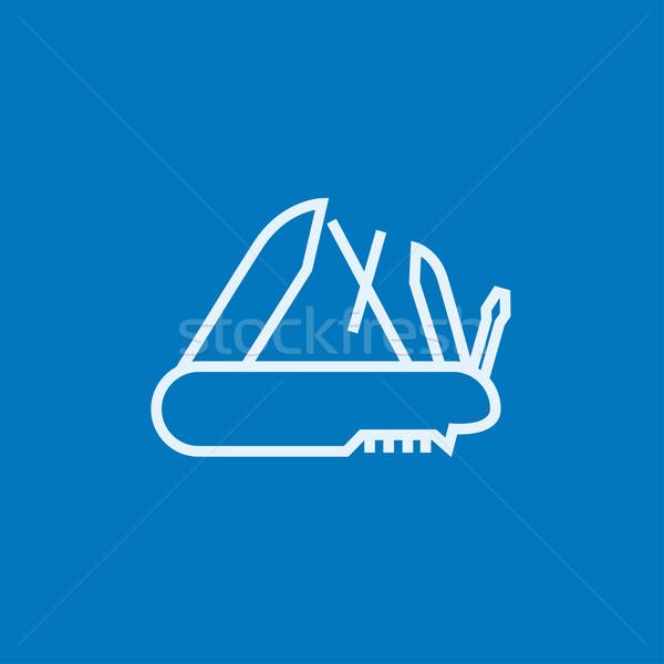 Multipurpose knife line icon. Stock photo © RAStudio