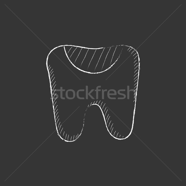Tooth decay. Drawn in chalk icon. Stock photo © RAStudio
