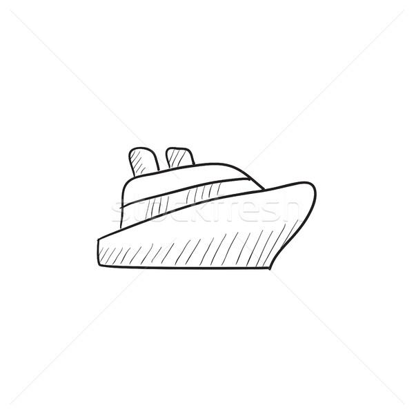 cruise ship sketch icon vector illustration 169 andrei