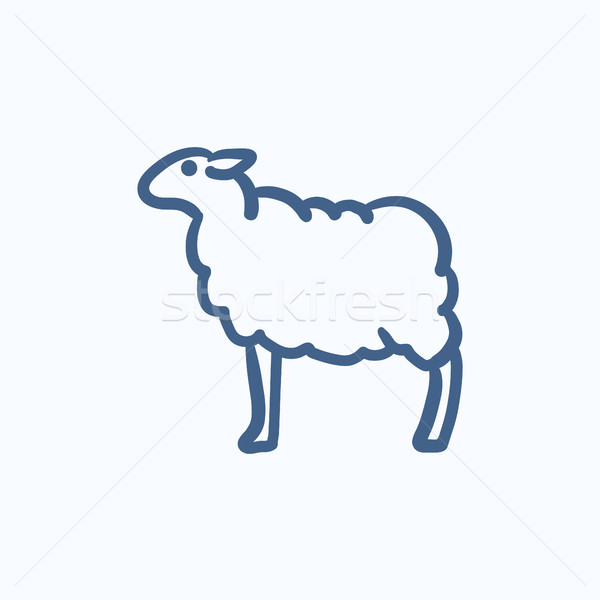 Sheep sketch icon. Stock photo © RAStudio