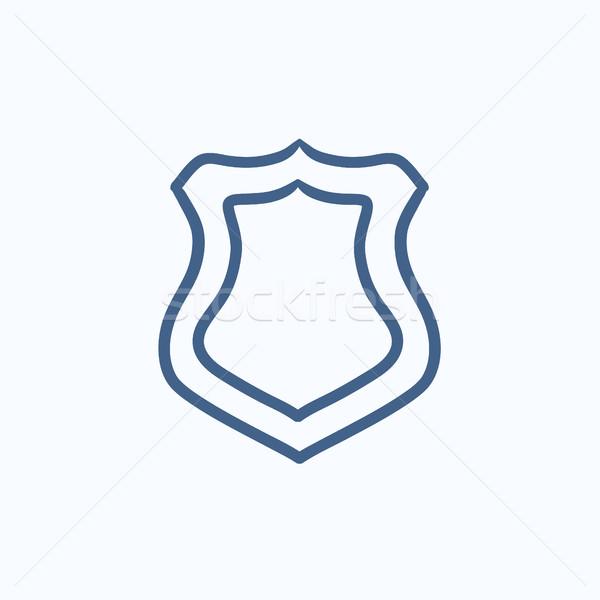 Police badge sketch icon. Stock photo © RAStudio