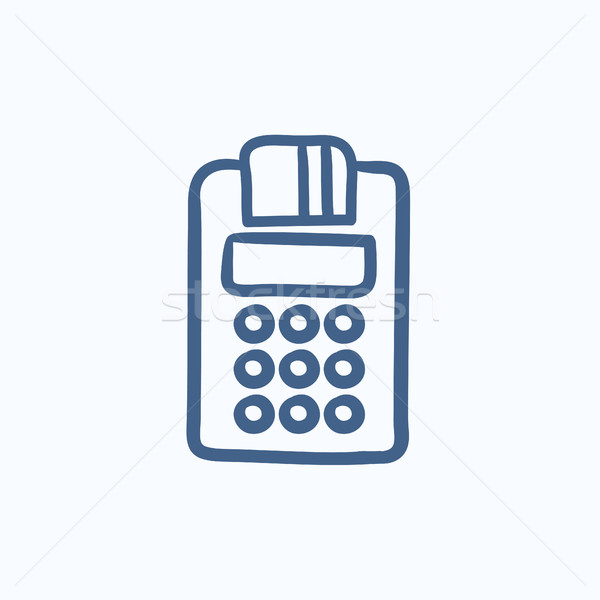 Cash register sketch icon. Stock photo © RAStudio