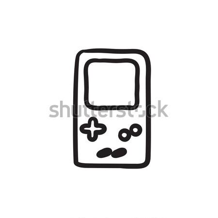 Electronic game sketch icon. Stock photo © RAStudio