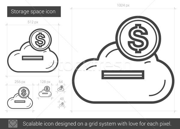 Storage space line icon. Stock photo © RAStudio