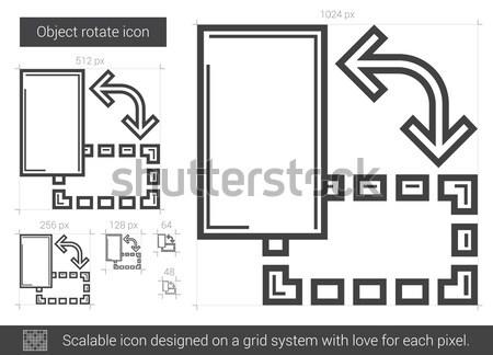 объект вращать линия икона вектора изолированный Сток-фото © RAStudio
