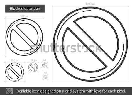 Blocked data line icon. Stock photo © RAStudio