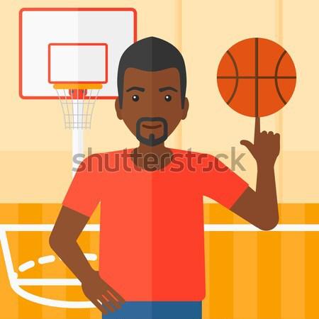 Stock fotó: Kosárlabdázó · labda · férfi · kosárlabda · ujj · profi