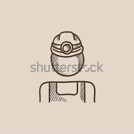 Coal miner sketch icon. Stock photo © RAStudio