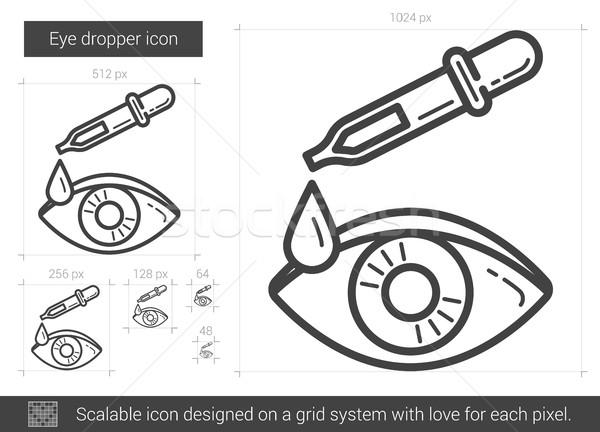 Eye dropper line icon. Stock photo © RAStudio
