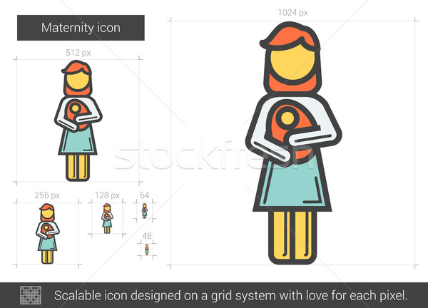 Maternity line icon. Stock photo © RAStudio