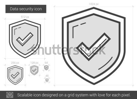 Data security line icon. Stock photo © RAStudio