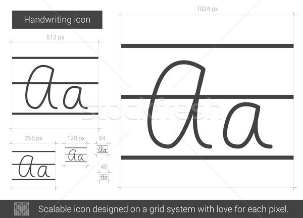 Escritura línea icono vector aislado blanco Foto stock © RAStudio