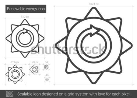 Energie rinnovabili line icona vettore isolato bianco Foto d'archivio © RAStudio
