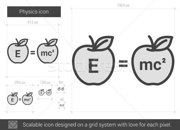 Stock photo: Physics line icon.