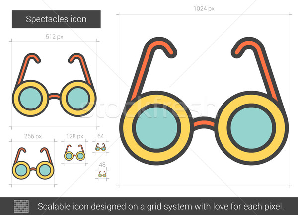 Spectacles line icon. Stock photo © RAStudio