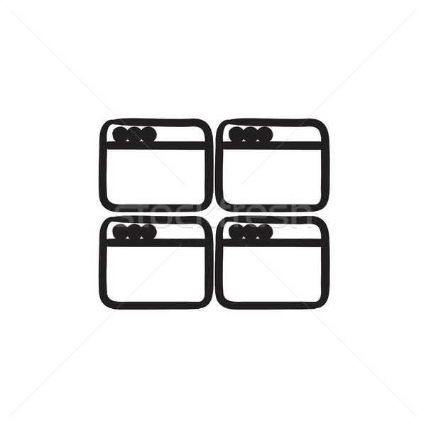 Navegador Windows boceto icono vector Foto stock © RAStudio