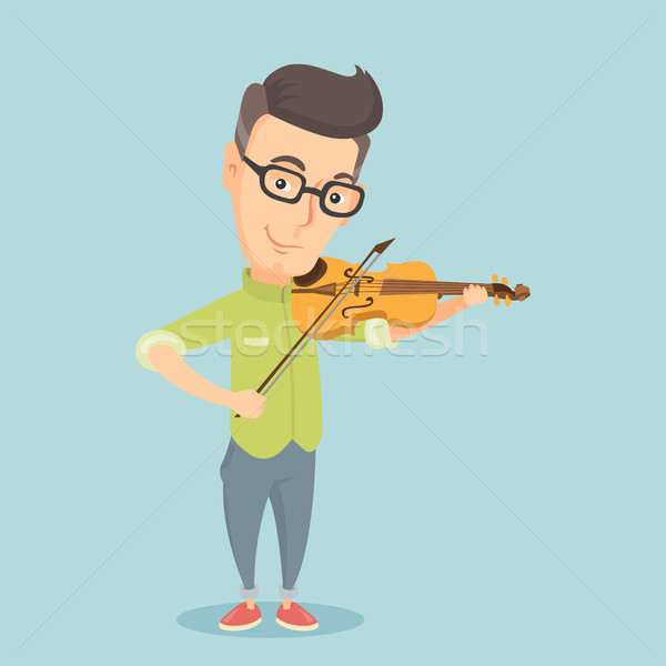 Man playing violin vector illustration. Stock photo © RAStudio