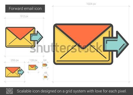Inoltrare e-mail line icona vettore isolato Foto d'archivio © RAStudio