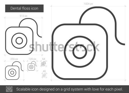 Flosdraad lijn icon vector geïsoleerd witte Stockfoto © RAStudio