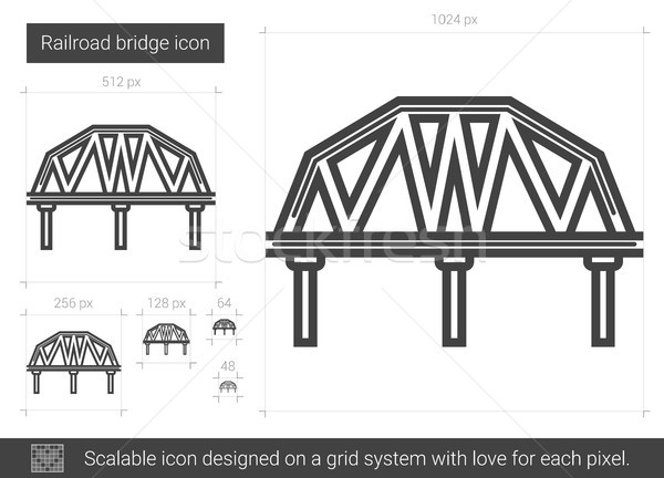 Ferrovia ponte line icona vettore isolato Foto d'archivio © RAStudio