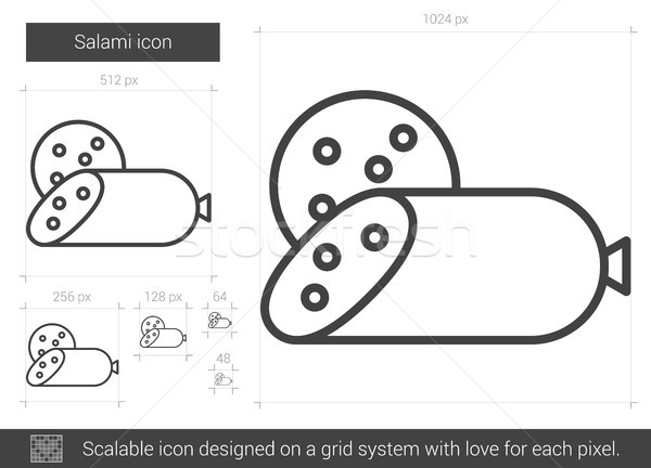 Salami line icon. Stock photo © RAStudio