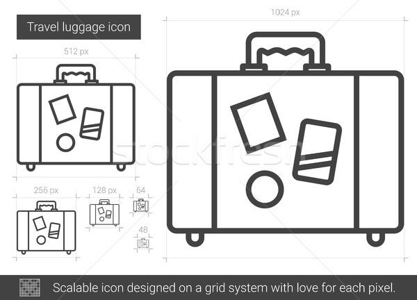 Travel luggage line icon. Stock photo © RAStudio