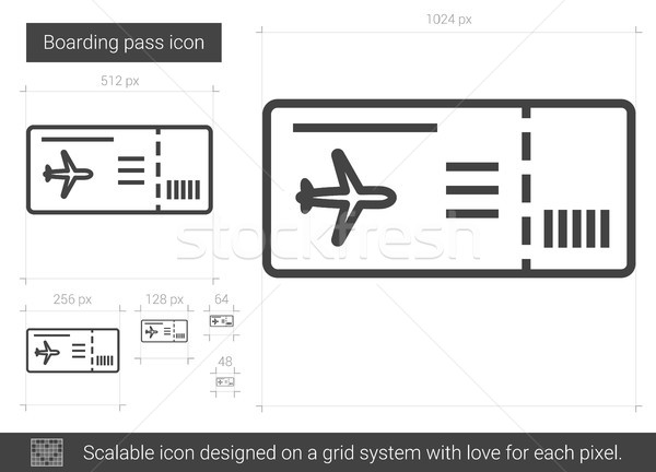 Boarding pass line icon. Stock photo © RAStudio