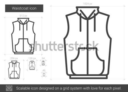 Waistcoat line icon. Stock photo © RAStudio