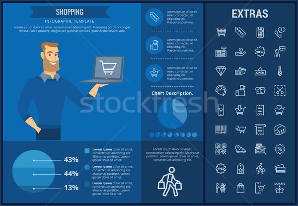 Vásárlás infografika sablon elemek ikonok testreszabható Stock fotó © RAStudio