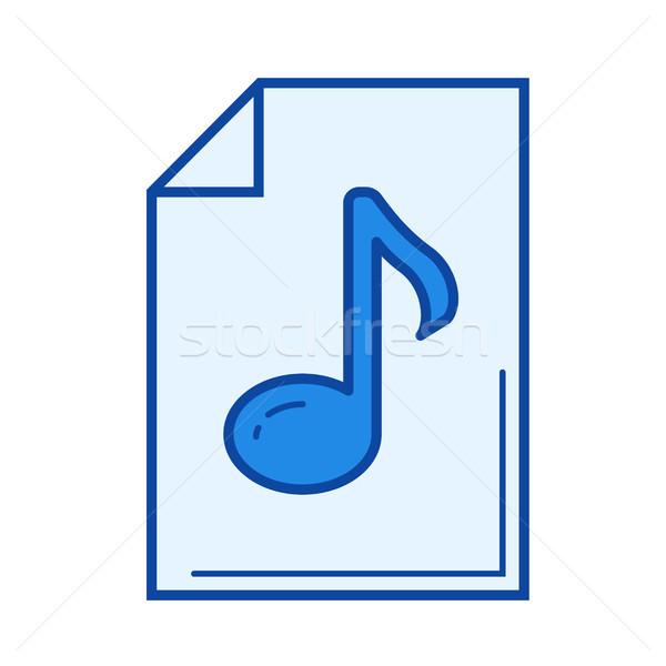 De audio archivo línea icono vector aislado Foto stock © RAStudio
