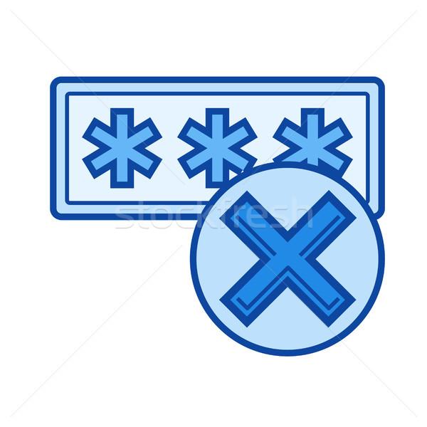 Access denied line icon. Stock photo © RAStudio