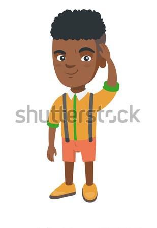 Confusi ragazzo testa piccolo perplesso Foto d'archivio © RAStudio