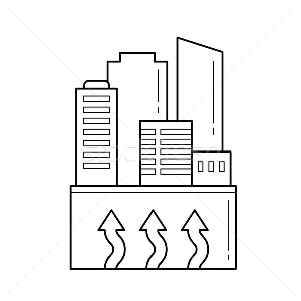 Power plant vector line icon. Stock photo © RAStudio