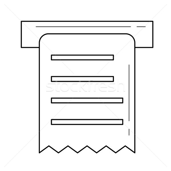 Receipt amount line icon. Stock photo © RAStudio