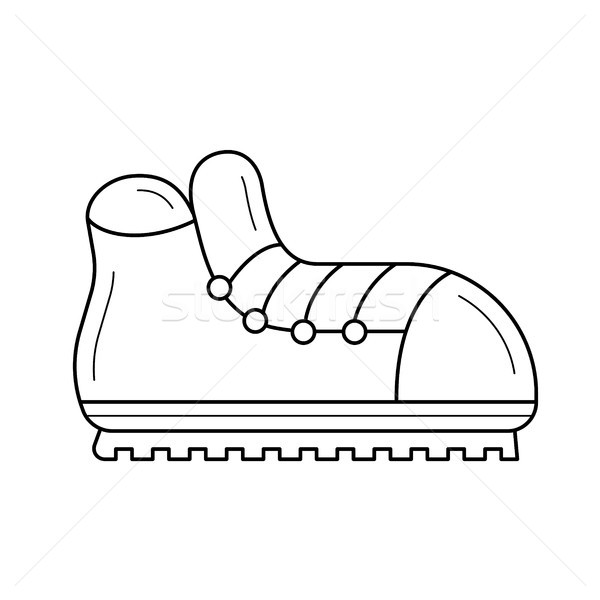 ハイキング ブーツ 行 アイコン ベクトル 孤立した ストックフォト © RAStudio