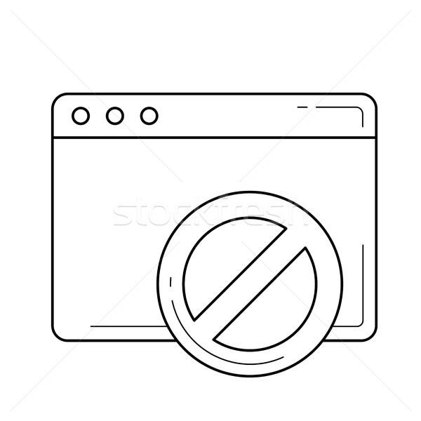 Page forbidden line icon. Stock photo © RAStudio