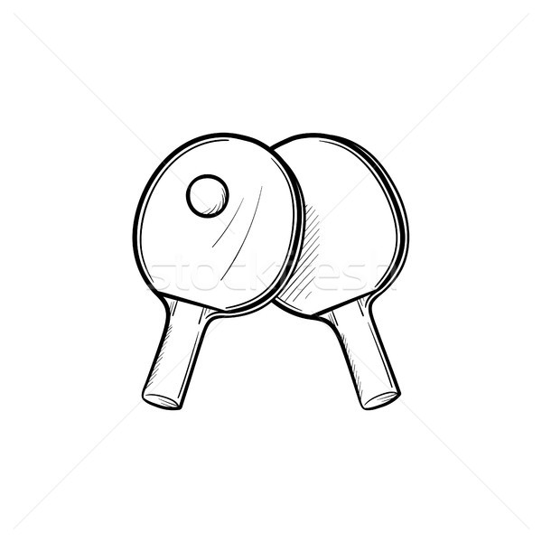 Table tennis hand drawn sketch icon. Stock photo © RAStudio