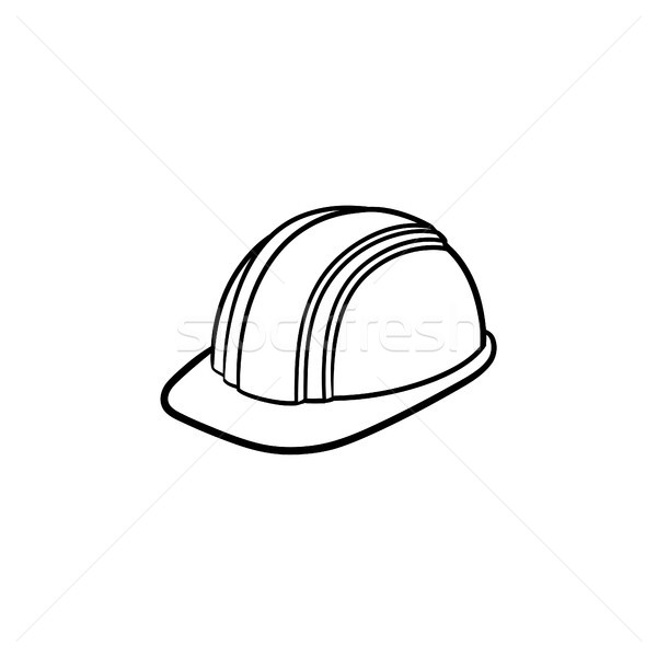 Hard hat hand drawn sketch icon. Stock photo © RAStudio
