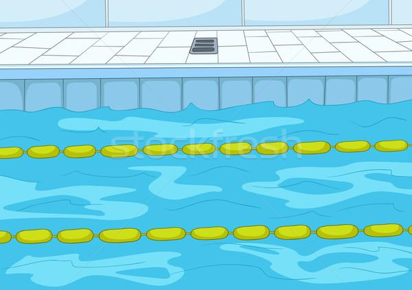 Zwembad cartoon eps 10 sport gezondheid Stockfoto © RAStudio