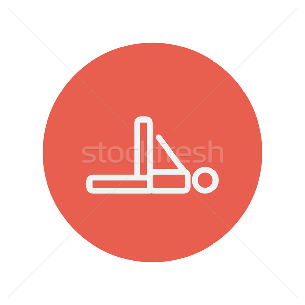 Stockfoto: Man · fitness · dun · lijn · icon · oefening