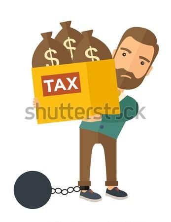 Chinese businessman locked in debt Stock photo © RAStudio