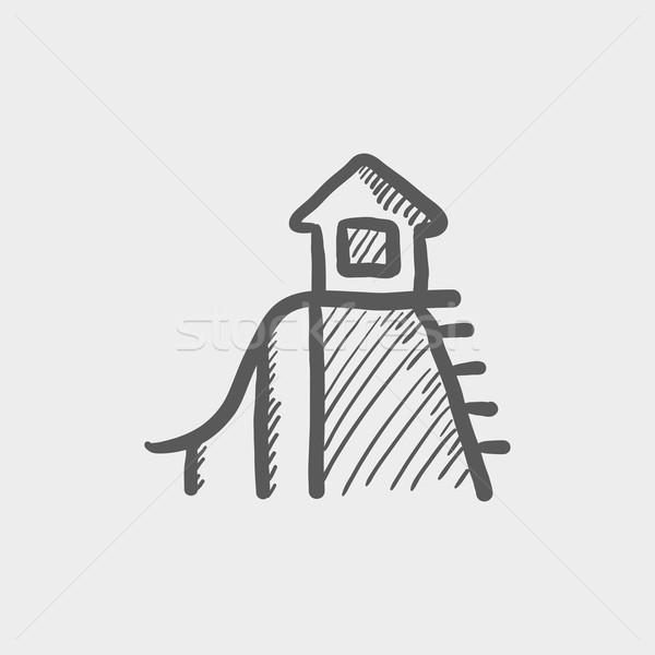 слайдов эскиз икона веб мобильных рисованной Сток-фото © RAStudio