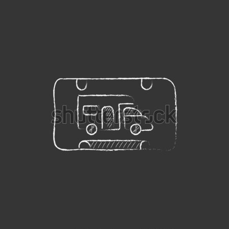игры утешить икона мелом Сток-фото © RAStudio