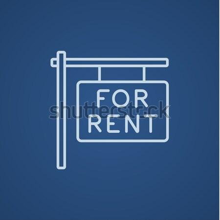 家賃 プラカード 行 アイコン ウェブ 携帯 ストックフォト © RAStudio