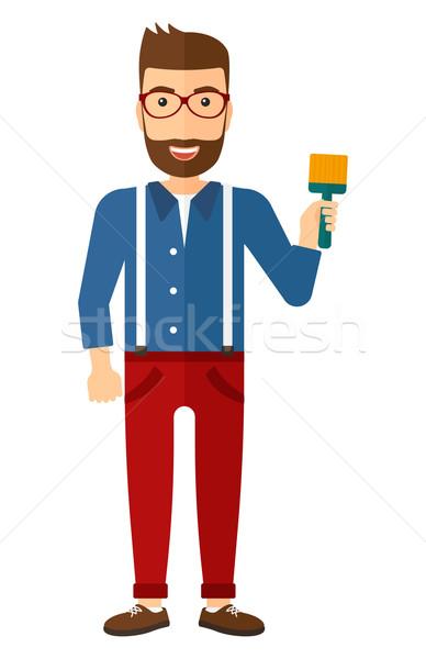 Pincel jóvenes barba vector Foto stock © RAStudio