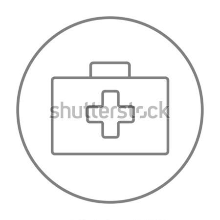応急処置 キット 行 アイコン ウェブ 携帯 ストックフォト © RAStudio