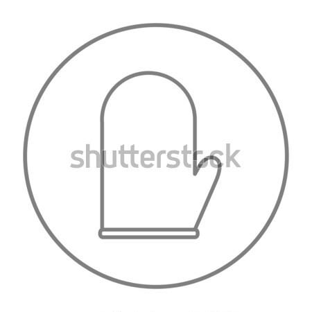 Kitchen glove line icon. Stock photo © RAStudio