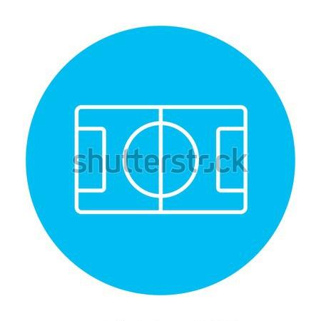 Stadion lay-out lijn icon web mobiele Stockfoto © RAStudio