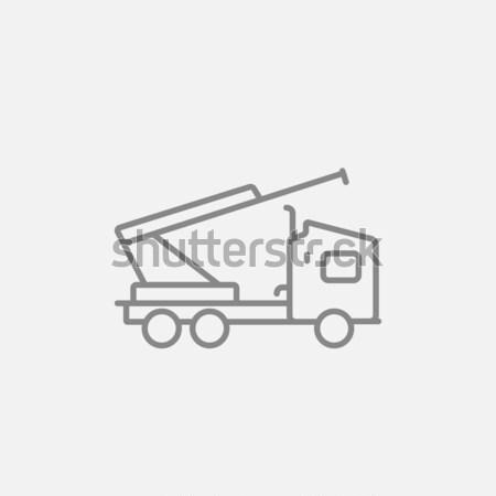 Machine with a crane and cradles line icon. Stock photo © RAStudio